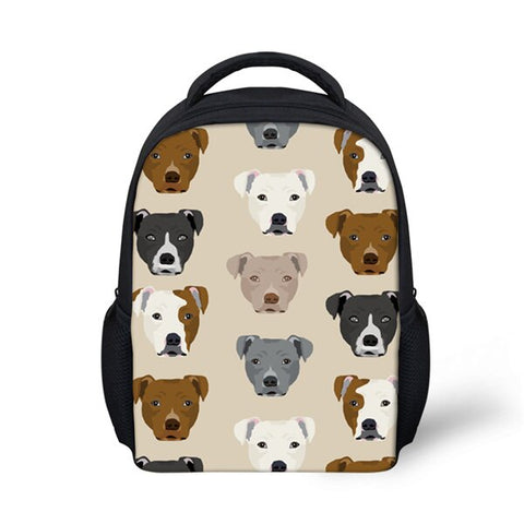 Different Pit Bull Heads Pattern Tan Backpack