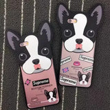 Boston Terrier Head Shaped Supreme Phone Case for iPhone