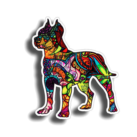 Colorful Mosaic Style Pit Bull Sticker