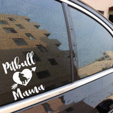 Pitbull Mama Heart Arrow Sticker