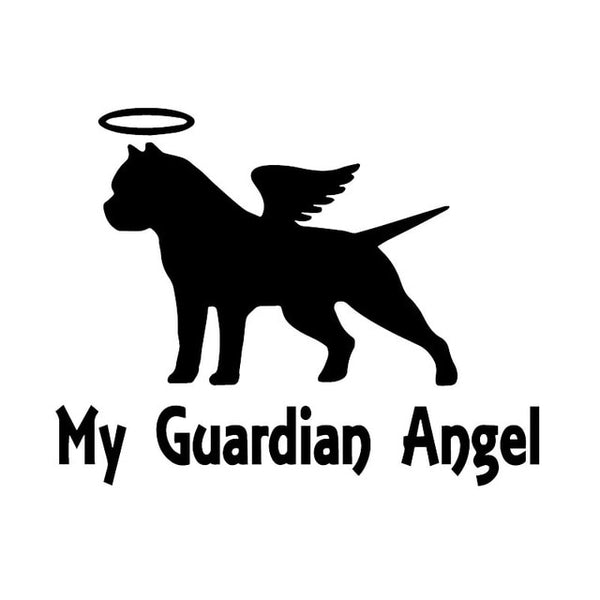 My Guardian Angel Pitbull Sticker