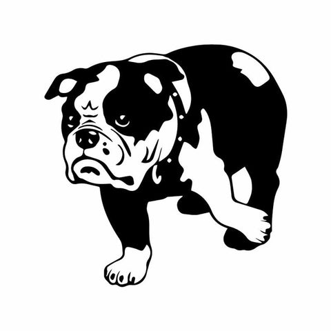 English Bulldog Touch Back Leg Sticker