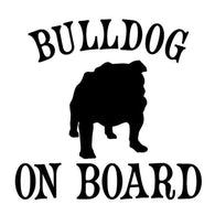 "Bulldog On Board Silhouette Bulldog Sticker (5.1"" x 5.1"")"