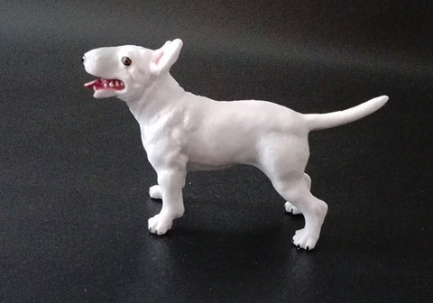 Bull Terrier White Small 1/60 Scale Figurine Model