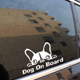 Dog on Board French Bulldog Peaking Sticker