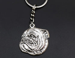 Realistic English Bulldog 3D Head Keychain