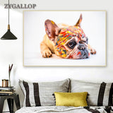 French Bulldog Paint Face Print Wall Art