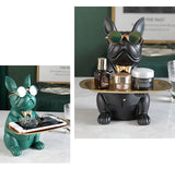 French Bulldog Sculpture Table Decoration Accessory Holder Figurine