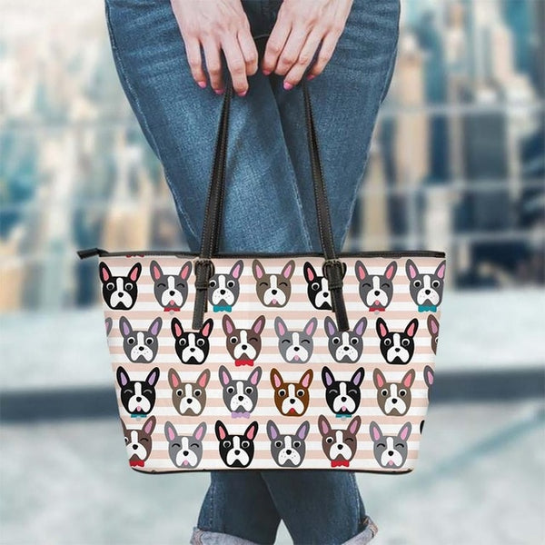 French Bulldog Head Cartoon Pattern Shoulder Bag