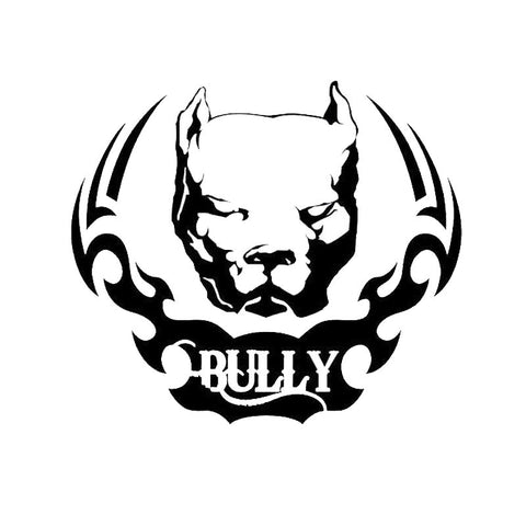 "Scary Pit Bull Head Bully Design Sticker (6.0"" x 5.2"")"
