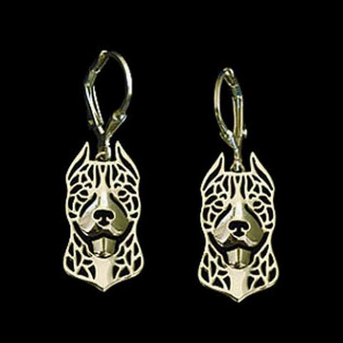 Happy Crop Ear Pit Bull Drop Earrings