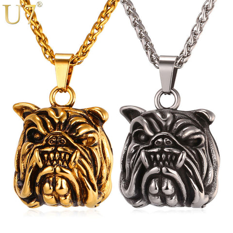 Angry English Bulldog 3D Necklace