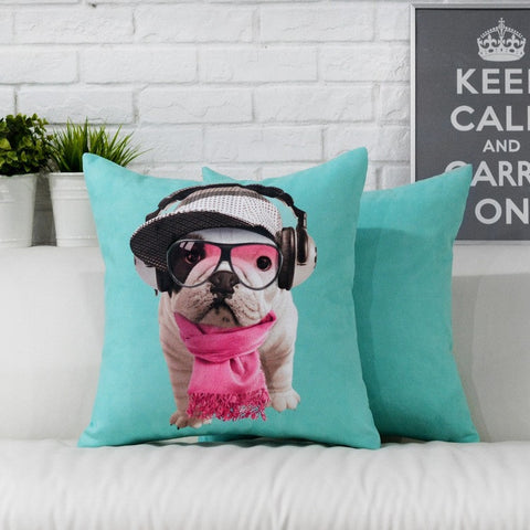 Cool English Bulldog Puppy Hat Headphone Scarf Pillowcase