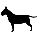 "Bull Terrier Silhouette Full Body Side View Sticker (4.5"" x 3.1"")"