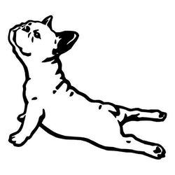 "French Bulldog Stretching Up Outline Sticker (6.3"" x 5.8"")"