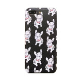 French Bulldog Red Scarf Pattern Phone Case for iPhone