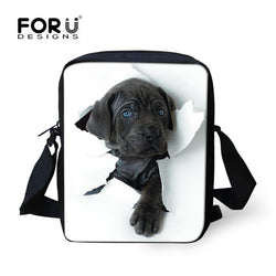 Black Pit Bull Puppy Break Through Wall Shoulder Bag