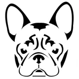 "French Bulldog Head Light Outline Sticker (7.9"" X 7.5"")"