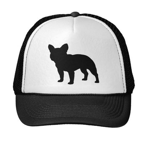 French Bulldog Silhouette Adjustable Trucker Hat
