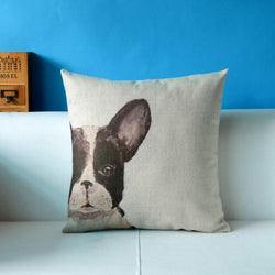 Half French Bulldog Face Covered Pillowcase