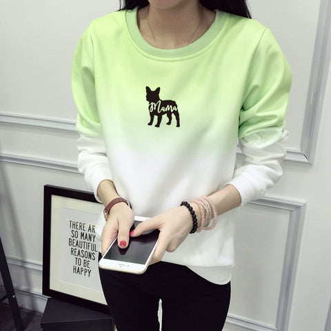 Two Tone Color French Bulldog Mama Women's Sweatshirt