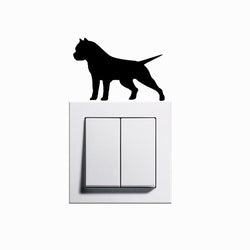 Suspicious Ready Pit Bull Silhouette Small Sticker