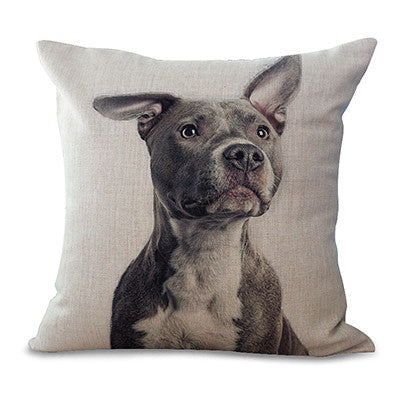Blue Nose Pit Bull One Ear Down Pillowcase