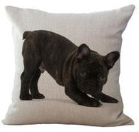 All Black French Bulldog Crouching Pillowcase