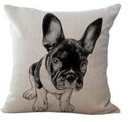 Big Ears Black White French Bulldog Pillowcase