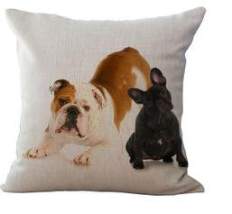 Confused Black French Bulldog Crouching English Bulldog Pillowcase