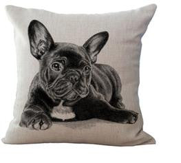 Black French Bulldog Laying Down Pillowcase