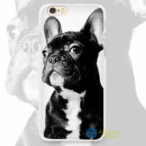 Black French Bulldog Action Figure Pose Phone Case for iPhone