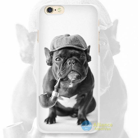 Sherlock Holmes Black French Bulldog Phone Case for iPhone