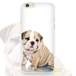 Wrinkly Light Tan English Bulldog Puppy Sitting Phone Case for iPhone