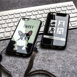 Mirror Style French Bulldog Phone Case for iPhone