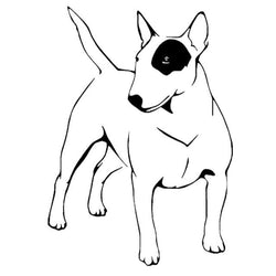 "Bull Terrier Outline Patch Sticker (6.5"" x 4.6"")"