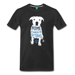 Home Is Where My Pitbull Is Quote Men's T-Shirt