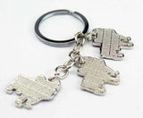 Cute Pink Ear French Bulldog Keychain
