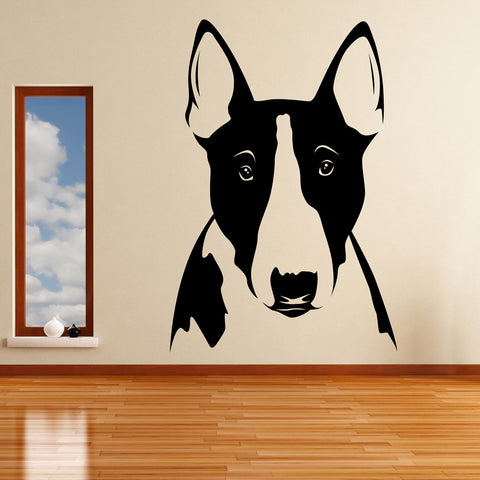 Big Bull Terrier Head Ears Sticker