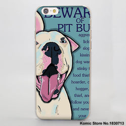 Beware of Pit Bull Phone Case for iPhone