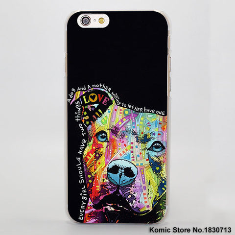 Colorful Quote Love Pit Bull Phone Case for iPhone