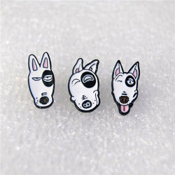 Cartoon Bull Terrier Dogs Stud Earrings