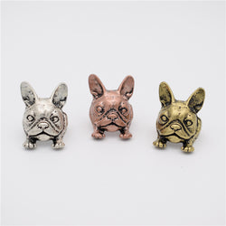 Cute Little Crouching French Bulldog Ring