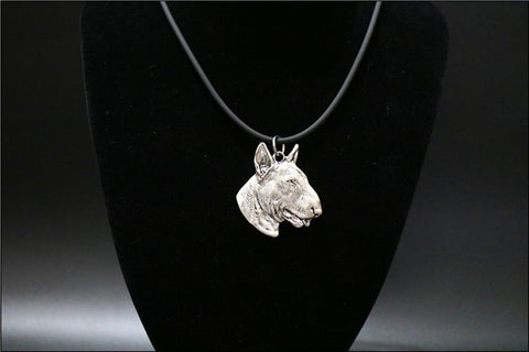 Realistic 3D Bull Terrier Head Necklace