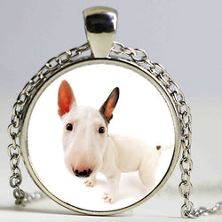 Bull Terrier Portrait Head Zoom Pendant Necklace