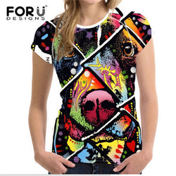 Pit Bull Full Image Colorful Design Women's T-Shirt