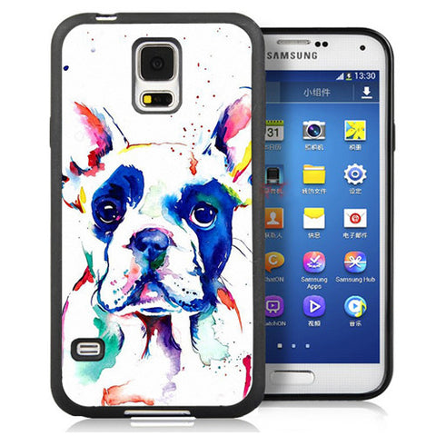 Colorful French Bulldog Painting White Phone Case for Galaxy