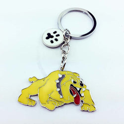 Mean English Bulldog Paw Keychain