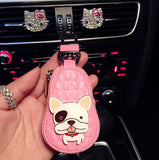 Cute French Bulldog Bull Terrier Pouch Keychain