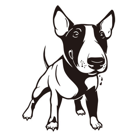 "Little Bull Terrier Wall Sticker Kids (17.3"" x 23.6"")"